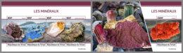 CHAD 2020 MNH Minerals Mineralien Mineraux M/S+S/S - OFFICIAL ISSUE - DH2011 - Minéraux