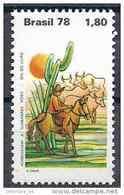 1978 BRESIL 1341** Livre, écrivain Rosa, Cheval, Cactus - Brasil