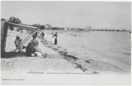 LE POULIGUEN - LE FARNIENTE SOUS LA TENTE PENDANT LA GRANDE CHALEUR - CARTE PRECURSEUR - SUPERBE ANIMATION - DEBUT 1900 - Le Pouliguen