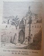 Old View Of  Metlili, - Algeria , Algerie -gravure-engraving 1863 TDM1863.2.174.1 - Prints & Engravings