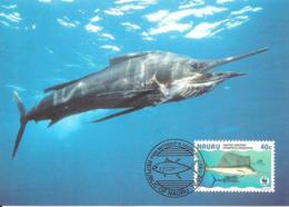 1997 - NAURU - Poisson Voilier - Pacific Sailfish WWF - Nauru