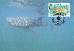 1991 - KIRIBATU - Whale Shark - Requin Baleine WWF - Kiribati