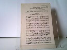 Musikblätter Der Hitler-Jugend Nr. 1 - Marsch Für 3 Fanfaren, Trommel Und 2 Pauken (Helmut Majewski) - Musik