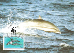 1993 - NIUE Alofi - Fraser's Dolphin - Dauphin De Fraser WWF - Cartes Postales