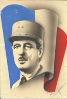 - Général DE GAULLE - Carton Imprimé à La Libération 16,5 X 24 Pour Affichage - 1939-45