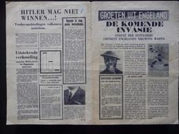 WWII WW2 Black Propaganda Leaflet Tract Flugblatt  FREE SHIPPING WORLDWIDE - Old Paper