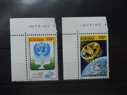 Burundi Nations Unies 1057/58 - Burundi