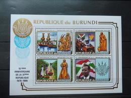 Burundi Bloc 121B Anniversaire De La Republique Neuf ** - Burundi