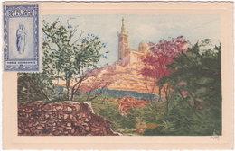 13. MARSEILLE. N.-D. De La Garde. Vue Du Roucas-Blanc. 3 - Notre-Dame De La Garde, Aufzug Und Marienfigur