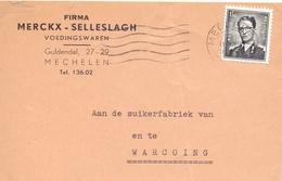 Briefkaart - Carte Postale - Firma Merckx Selleslach Mechelen à Warcoing - 1959 - Postkaarten [1951-..]