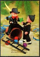 D4461 - TOP Glückwunschkarte - Puppe Schornsteinfeger Essenkehrer - Nouvel An
