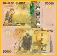Uganda 50000 (50,000) Shillings P-54c 2015 UNC Banknote - Uganda