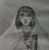 Old Engraved Portrait Of A Woman In Metlili- Algeria , Algerie -gravure-engraving 1863 TDM1863.2.179 - Prints & Engravings