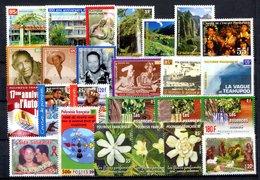 RC 16346 POLYNESIE COTE 78€ - 2001 ANNÉE COMPLETE SOIT 25 TIMBRES N° 631 / 655 NEUF ** MNH TB - Polynésie Française