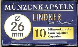 LINDNER - CAPSULES Pour MONNAIES De 26 Mm (Boîte De 10 Capsules) - Matériel