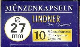 LINDNER - CAPSULES Pour MONNAIES De 27 Mm (Boîte De 10 Capsules) - Matériel