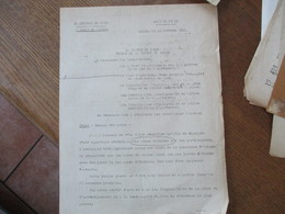 ETAT FRANCAIS LILLE LE 25 OCTOBRE 1941  LE PREFET F.CARLES OBJET: REMISE DES ARMES - Historical Documents