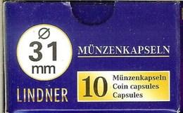 LINDNER - CAPSULES Pour MONNAIES De 31 Mm (Boîte De 10 Capsules) - Matériel