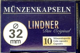 LINDNER - CAPSULES Pour MONNAIES De 32 Mm (Boîte De 10 Capsules) - Matériel