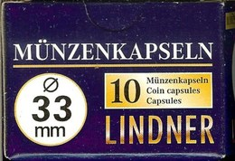 LINDNER - CAPSULES Pour MONNAIES De 33 Mm (Boîte De 10 Capsules) - Matériel