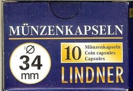 LINDNER - CAPSULES Pour MONNAIES De 34 Mm (Boîte De 10 Capsules) - Matériel