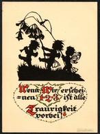 D4469 - Plischke Karte - Elfe Engel Werner Klotz - Scherenschnitt - Silhouette
