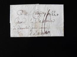 LETTRE DE LILLE POUR DARNETAL - 1801-1848: Precursori XIX