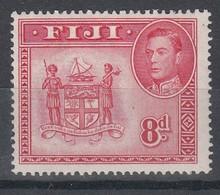 FIJI 1938 8d CARMINE MLH SG 261c - Fiji (...-1970)