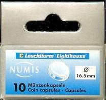 LEUCHTTURM - CAPSULES Pour MONNAIES De 16.50 Mm (Boîte De 10 Capsules) - Matériel