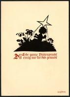 D4473 - Plischke Karte - Engel Angel - Werner Klotz - Scherenschnitt - Silhouette
