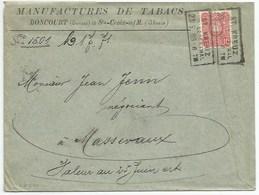 Sk670 - ST KREUZ IM LEBERTHAL - 1888 - Elsass - Haut Rhin - PFENNIG - STE CROIX AUX MINES - Entête Manufactures TABAC - - Covers & Documents