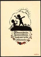 D4475 - Plischke Karte - Engel Angel Elfe - Werner Klotz - Scherenschnitt - Silhouette