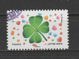 "FRANCE / 2018 / Y&T N° AA 1569 : ""Emoji"" (Trèfle à 4 Feuilles) - Choisi - Cachet Rond - KlebeBriefmarken"