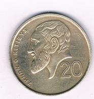 20 CENTS 1990  CYPRUS /2284/ - Zypern