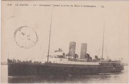 "N° 138 Obl. Ste. Adresse / Poste Belge. Le Havre ""Normannia"" 1916 / Lunery - 1915-1920 Albert I"