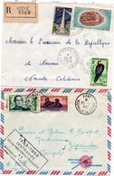 Kone 1970 Recommandé Avec étiquette + Koné 1953 Griffe Centenaire Présence Française - Lettre Brief Cover - New Caledonia