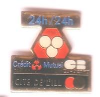 S224 Pin's Bank Banque Credit Mutuel Cité De L'ill Strasbourg Alsace Achat Immédiat - Banken