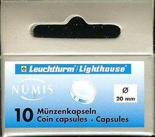 LEUCHTTURM - CAPSULES Pour MONNAIES De 20 Mm (Boîte De 10 Capsules) - Matériel