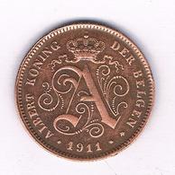 2 CENTIMES  1911 VL   BELGIE /2086/ - 1909-1934: Albert I