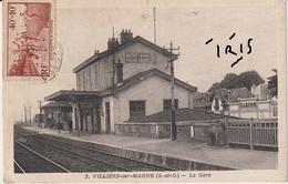 CPA2 - VILLIERS SUR MARNE - LA GARE - Villiers Sur Marne