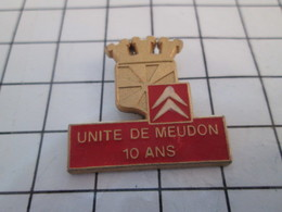 1020  Pin's Pins / Beau Et Rare / THEME : AUTOMOBILES / CITROEN UNITE DE MEUDON - Citroën