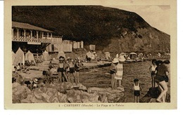 CARTERET - La Plage Et La Falaise - CPA ( Manche , France ) - Carteret