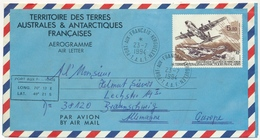 TAAF - Aérogramme 5,70 Inauguration De La Piste... Pour Allemagne - Port Aux Français Kerguelen 23/7/1994 - Enteros Postales