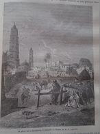 Old View Of Butchery Square In Ouargla - Algeria , Algerie -gravure-engraving 1863 TDM1863.2.185 - Prints & Engravings