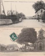 2 CPA:CHANGIS SAINT JEAN (77) LA PLACE,PASSAGE À NIVEAU ET ROUTE DE LIZY...ÉCRITES - Francia