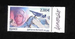 """TIMBRE DE 2005 """" HOMMAGE A ADRIENNE BOLLAND """" - AVEC AVION QUI TOUCHE LA MONTAGNE (RARE) - SIGNE ANDRE LAVERGNE - ETAT** - 1960-.... Mint/hinged"""