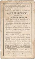 Meensel-Kiezegem / Doodsprent / Bidprent / 1886 - Devotion Images