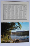 Petit Calendrier 1974 Offert Par Hotel Restaurant Du Gaschney MUHLBACH S/ MUNSTER  68  Paysage - Kalender