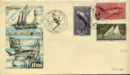 Ref. 285272 * NEW *  - IFNI . 1958. STAMP DAY. FISHES AND SHIPS. DIA DEL SELLO. PECES Y BARCOS - Ifni
