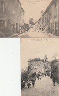 2 CPA:LAMASTRE (07) RUE CHALAMET,RETOUR DE L'ÉGLISE..ÉCRITES - Lamastre